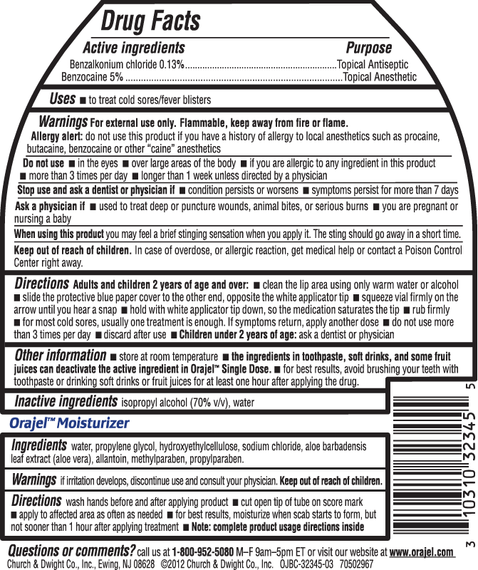 Single Dose Plus Moisturizer Label