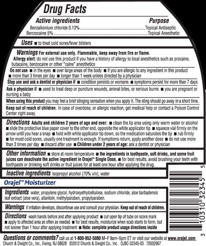 Cold Sore Treatment Single Dose Moisturizer Orajel