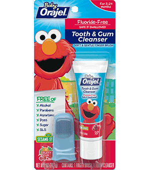 Baby Orajel Elmo Tooth And Gum Cleanser With Finger Brush