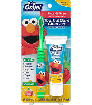 Baby Orajel Elmo Tooth And Gum Cleanser With Toothbrush