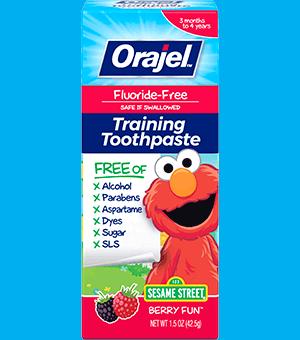 Elmo Training Toothpaste for Kids | Orajel™