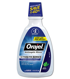 Antiseptic Mouth Sore Rinse Orajel