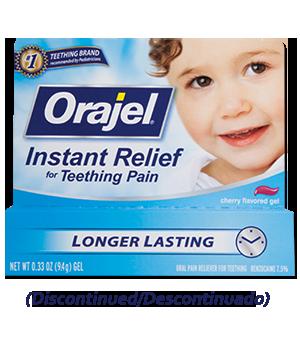 Teething Instant Relief Gel Orajel Discontinued