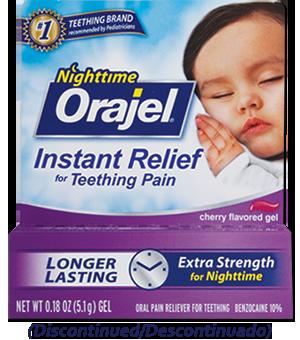 orajel medicated nighttime teething gel