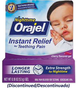 Medicated Nighttime Teething Gel Orajel Discontinued