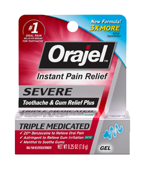 Severe Toothache and Gum Relief Plus Gel | Orajel™