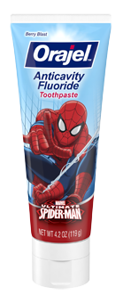 Spider-man toothpaste