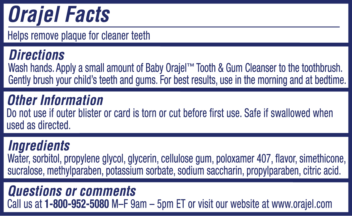 Elmo Tooth and Gum Cleaner Label