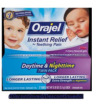 Medicated Teething Daytime & Nighttime Twin Pack | Orajel™