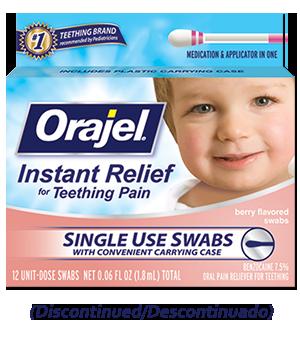 Medicated Teething Swabs Orajel