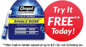 FREE Sample Orajel Cold Sore T...